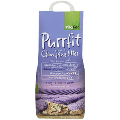 VitaPet Purrfit Lavender Scented Clumping Cat Litter - 7l