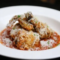 Chef Brian Landry's Fried Chicken Parmesan with Spaghetti