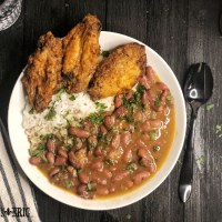 New Orleans Style Red Beans and Rice with Pickled Pork