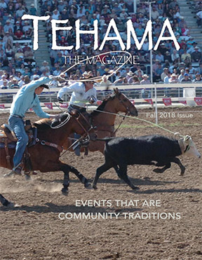 This magazine cover shows an event from the Red Bluff Round Up