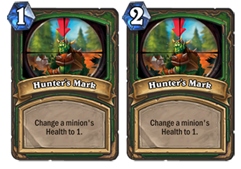 Hunter's Mark will double in cost from 1 to 2 mana