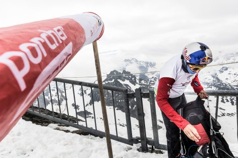 Aaron Durogati (ITA1) performs during the Red Bull X-Alps at Turnpoint 7, Switzerland on June 21, 2019