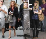 On The Gossip Girl Set With Blake Lively & Hilary Duff Carrying Valentino Bags