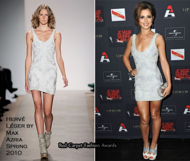 Cheryl Cole Kelly Rowland In Herve Leger By Max Azria