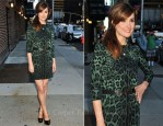 """Rose Byrne In Dolce & Gabbana - """"Late Show with David Letterman"""""""