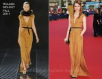 Emma Stone In Roland Mouret - 2011 Deauville Film Festival Opening Ceremony