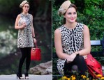 On The Set Of 'Gossip Girl' With Leighton Meester In Dolce & Gabbana