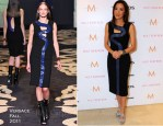"""Michelle Yeoh In Versace - """"The Lady"""" Toronto Film Festival Press Conference"""