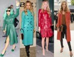 Celebrities Love...Coloured Leather Coats
