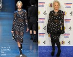 Helen Mirren In Dolce & Gabbana - 2011 British Comedy Awards