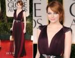 Emma Stone In Lanvin - 2012 Golden Globe Awards