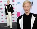 Tilda Swinton In YSL - 2012 Critics' Choice Awards
