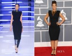 Alicia Keys In Alexandre Vauthier Couture - 2012 Grammy Awards