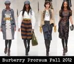 Burberry Prorsum Fall 2012