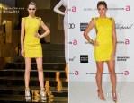 Heidi Klum In Atelier Versace - Elton John AIDS Foundation Academy Awards Viewing Party