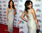 Tamera Mowry-Housley In Nicole Miller - 2012 NAACP Image Awards