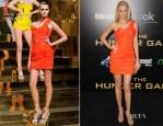Elizabeth Banks In Atelier Versace - 'The Hunger Games' Premiere