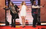 Jennifer Lopez In Alberto Makali - 'American Idol' Top 4 To 3 Live Elimination Show