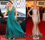 Best Dressed Of The Week - Catherine, Duchess of Cambridge In Jenny Packham & Karolina Kurkova In Rachel Zoe