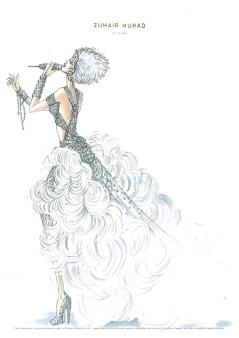 Zuhair Murad sketches for Jennifer Lopez' World Tour Wardrobe