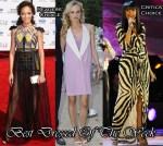Best Dressed Of The Week - Selita Ebanks In Falguni and Shane Peacock, Diane Kruger In 3.1 Phillip Lim & Jennifer Hudson In Roberto Cavalli