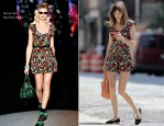 Alexa Chung In Anna Sui - Out In New York City