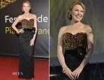Kylie Minogue In Dolce & Gabbana - Swisscom Leopard Of Honor To Leos Carax