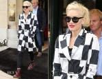 Gwen Stefani In Kelly Wearstler - Out In Paris