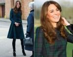 Catherine, Duchess of Cambridge In Alexander McQueen - St Andrews School Visit