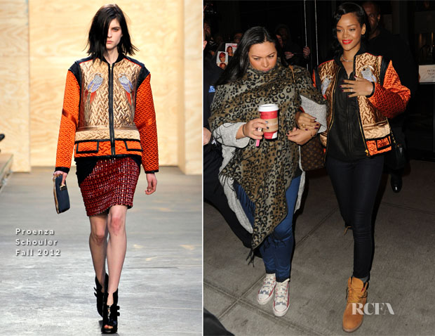 Rihanna In Proenza Schouler - Out In New York City - Red ...