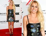 Britney Spears In Christopher Kane - 'The X Factor' Viewing Party