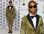 Pharrell Williams In Moncler Gamme Bleu – Moncler Celebrates 60th Anniversary Art Basel Miami Party