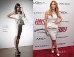 Jennifer Lopez In Lanvin Blanche - 'Parker' New York Screening