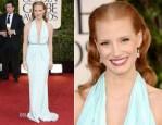 Jessica Chastain In Calvin Klein - 2013 Golden Globe Awards