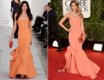 Jessica Alba In Oscar de la Renta - 2013 Golden Globe Awards