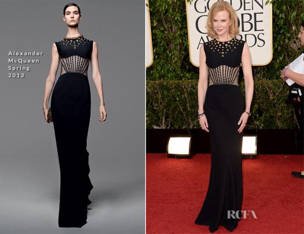 Nicole Kidman in Alexander McQueen - 2013 Golden Globe Awards