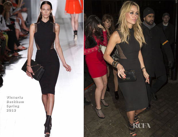 Alex Curran In Victoria Beckham - Rose Club
