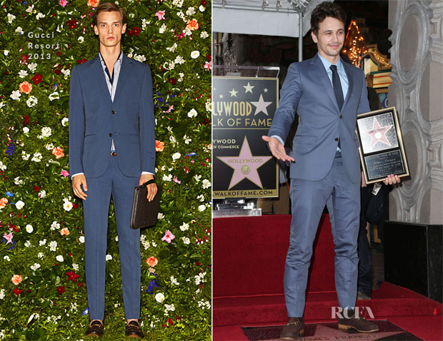 James Franco In Gucci - Hollywood Walk of Fame Unveiling