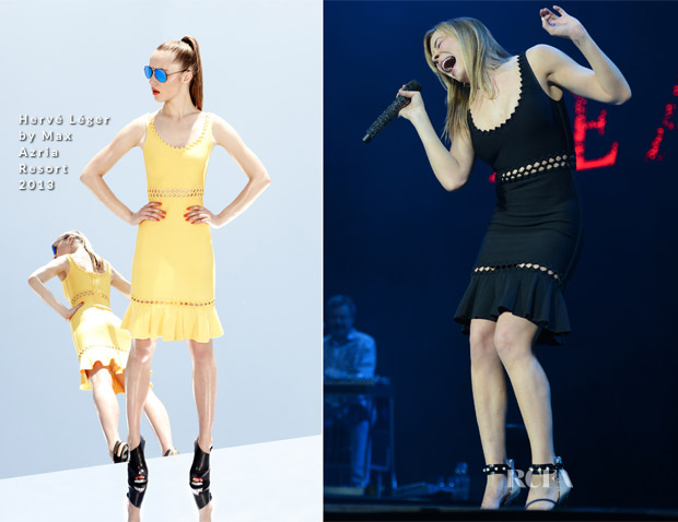 LeAnn Rimes In Hervé Léger by Max Azria - C2C Country To Country Music Festival