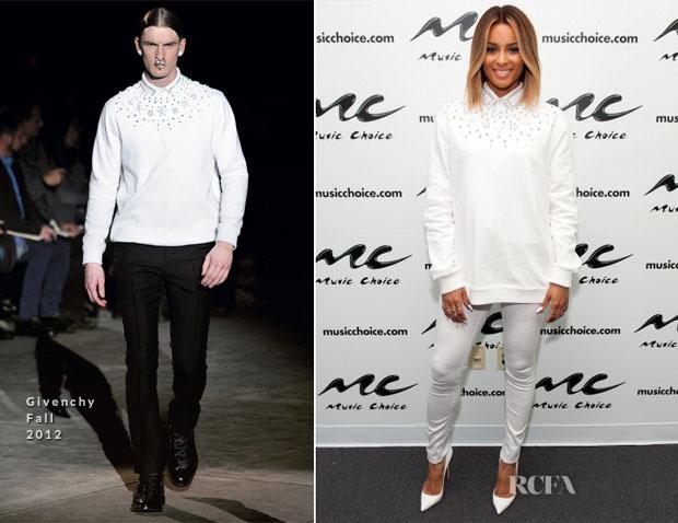 Ciara In Givenchy - Music Choice's 'U&A' Visit