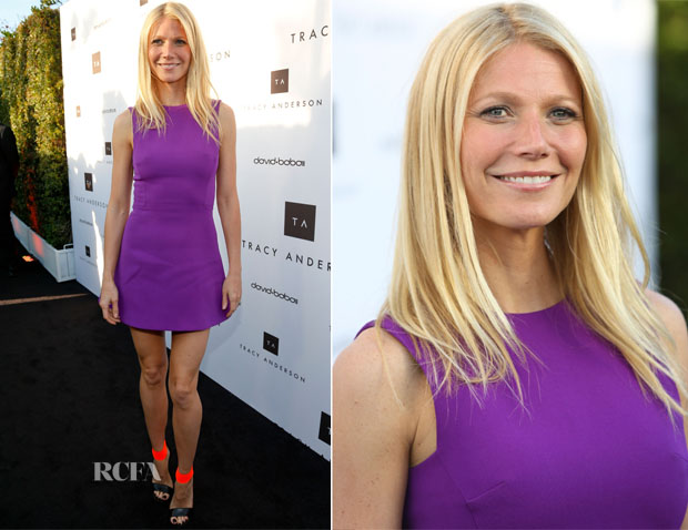 Gwyneth Paltrow In Victoria Beckham - Tracy Anderson Flagship Studio Opening