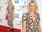 Naomi Watts In Alexander McQueen - 'Sunlight Jr.' Tribeca Film Festival Premiere