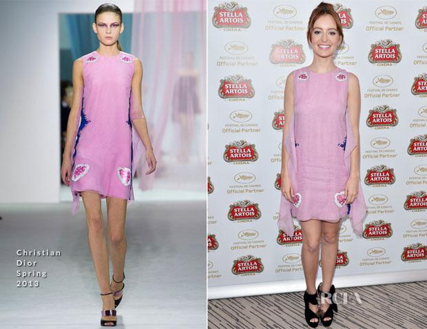 Ahna O'Reilly In Christian Dior - Stella Artois Suite