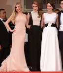 Claire Julien In Emilio Pucci, Taissa Farmiga In Valentino & Katie Chang In Dior - 'The Bling Ring' Cannes Film Festival Premiere