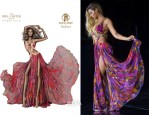 Beyonce Knowles In Roberto Cavalli - Mrs Carter World Tour