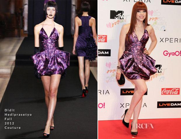 Carly Rae Jepsen In Didit Hediprasetyo Couture - MTV Video Music Awards Japan 2013