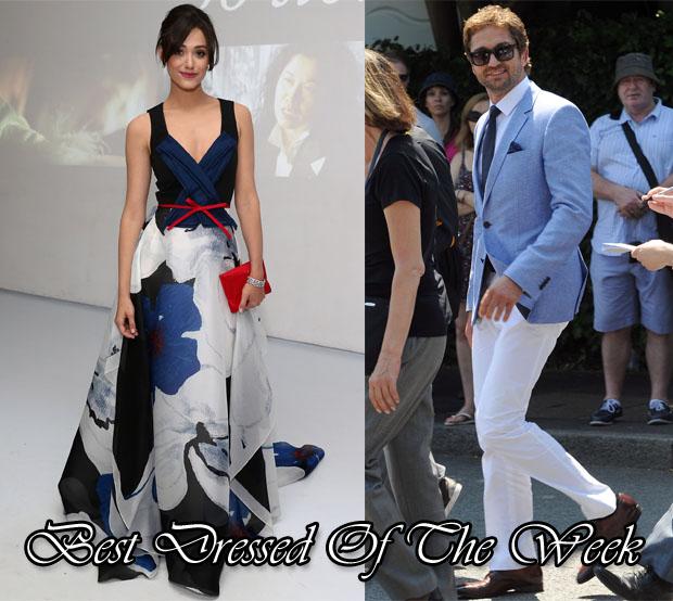 Best Dressed Of The Week - Emmy Rossun In Carolina Herrera & Gerard Butler In Hugo Boss
