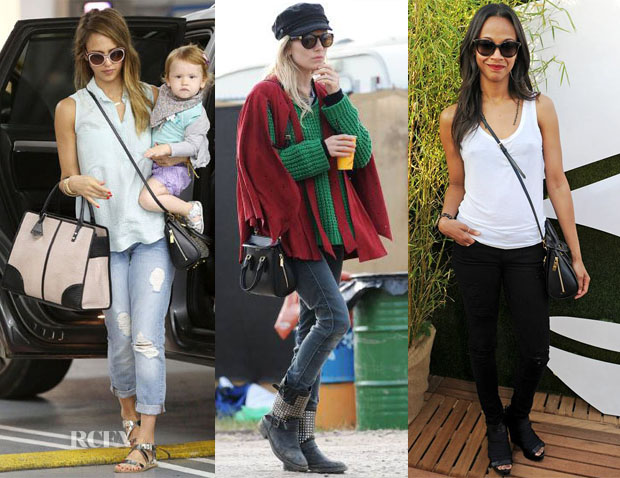 Celebrities Love Alexander McQueen Mini Heroine Bag