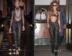 Lady Gaga In Atelier Versace - JFK to London Heathrow Airport