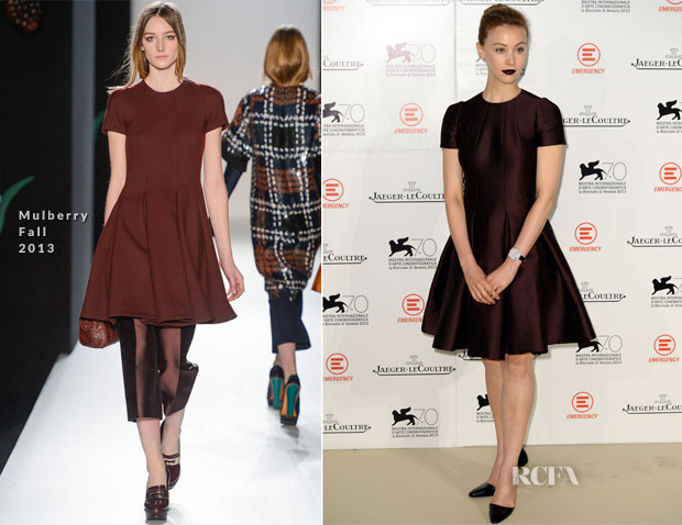 Sarah Gadon In Mulberry -  'Emergency Jaeger-LeCoultre In Aid Of The Goderich Centre, Sierra Leone' Gala Dinner